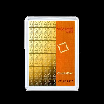 100 x 1 gram goudbaar (Combibar) van Valcambi