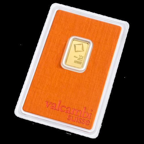 Valcambi 2,5 gram goudbaar (voorkant)