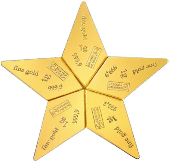 Goudbaren Valcambi 5x1 gram goudbaar