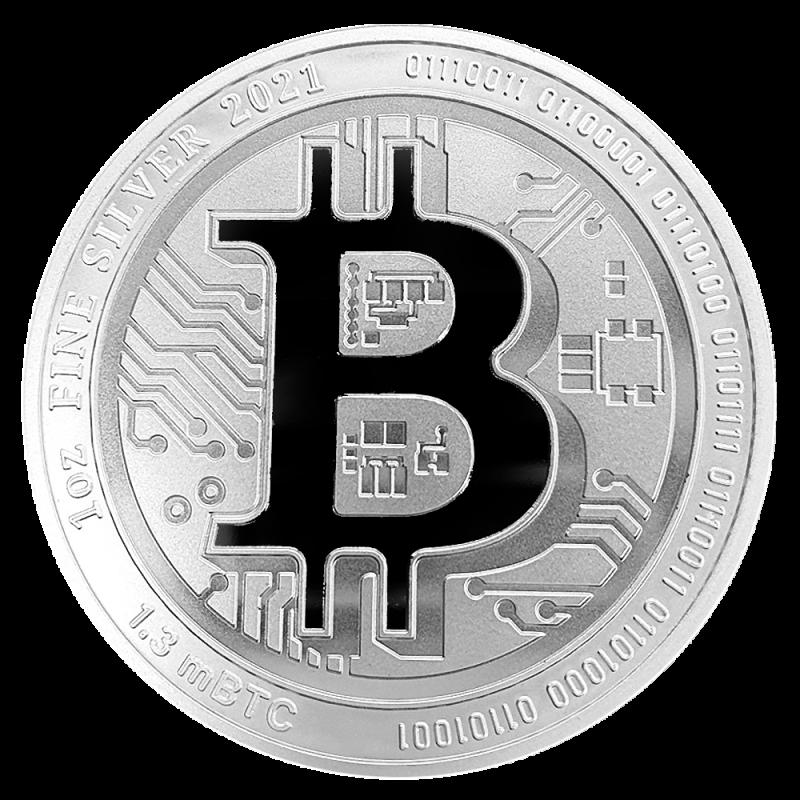 Zilveren Bitcoin 2021 koop je bij MuntenBaren.nl