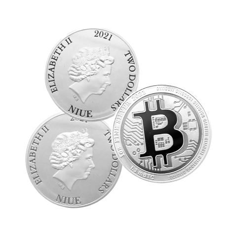 Zilveren Bitcoins 2021 te koop bij Munten Baren