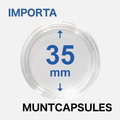 Muntcapsules van het merk Importa met een binnenmaat van 35 mm. Te gebruiken voor o.a.
