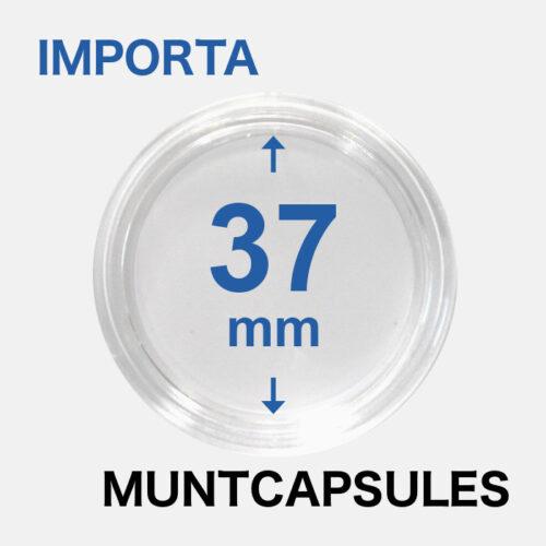 Muntcapsules van het merk Importa met een binnenmaat van 37 mm. Te gebruiken voor de 1oz zilveren Wiener Philharmoniker.