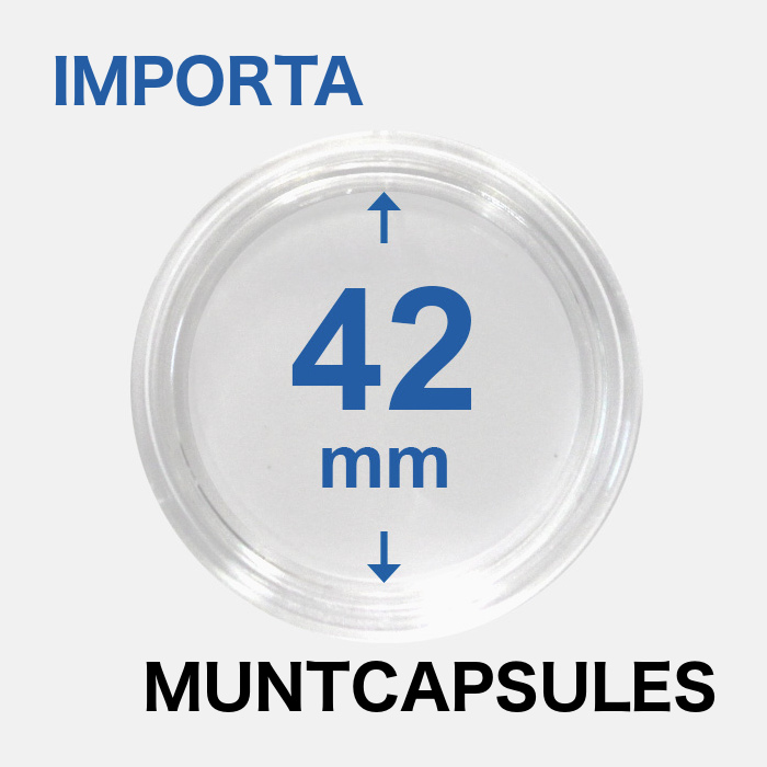 Muntcapsules van het merk Importa met een binnenmaat van 42 mm. Te gebruiken voor o.a.
