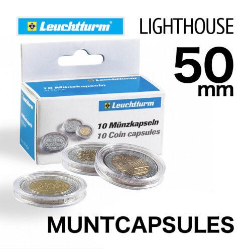 Muntcapsules van het merk Leuchtturm (Lighthouse) met binnenmaat van 50 mm. Te gebruiken voor o.a.