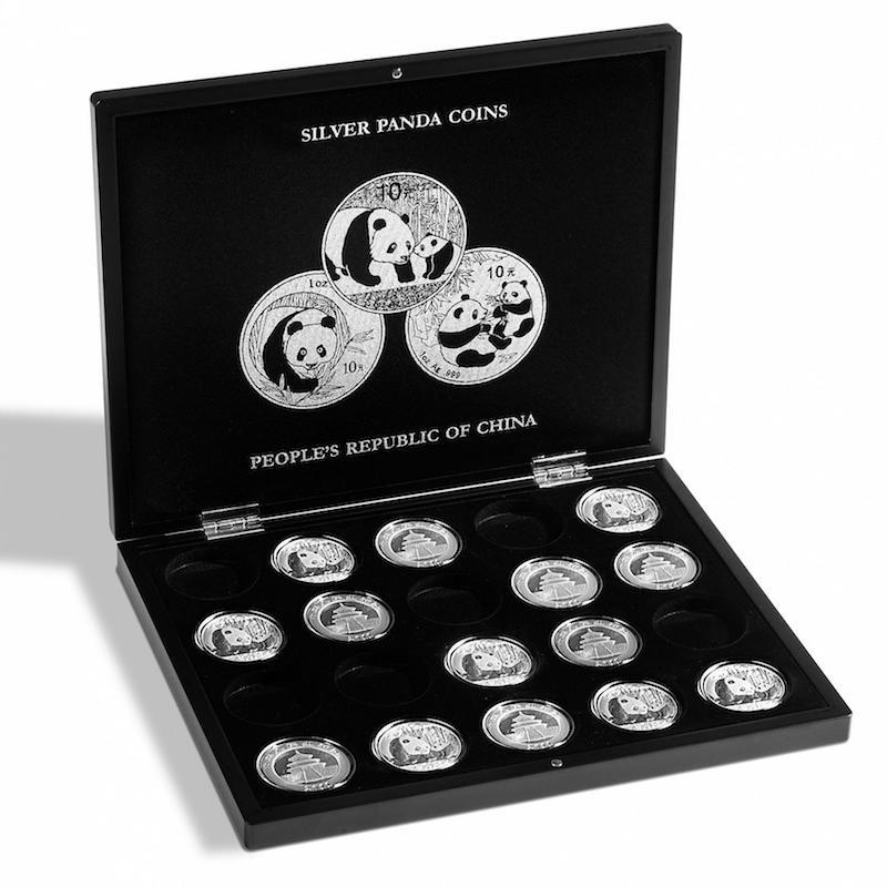 Muntcassette voor 20 Panda zilveren munten. Verzamel uw zilveren Panda munten in deze muntcassette. (Muntcassette zonder afgebeelde zilveren Panda munten).